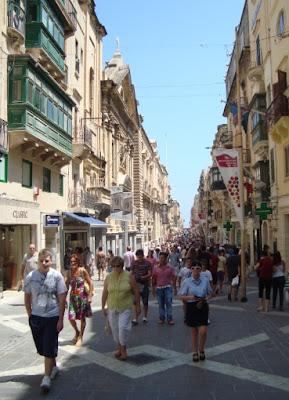 Calle principal de La Valletta