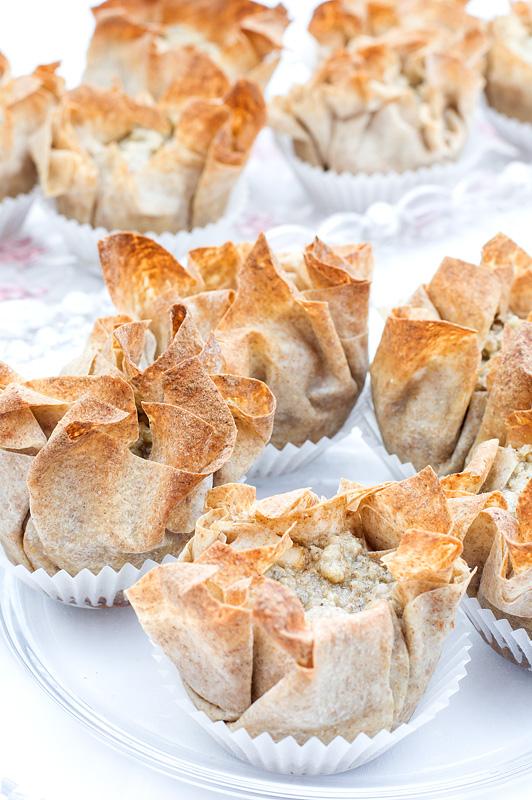 Mini apple pies close up