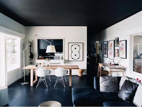 Territ rio casa a cor certa faz milagre for Interior house designs black and white