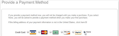 payment option at apple's itune store