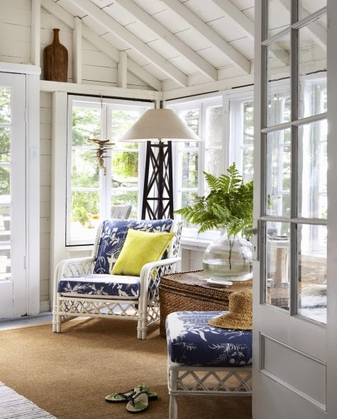 blue and white nautical cottage