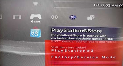 Factory Service Mode (FSM) 0.1 para PS3