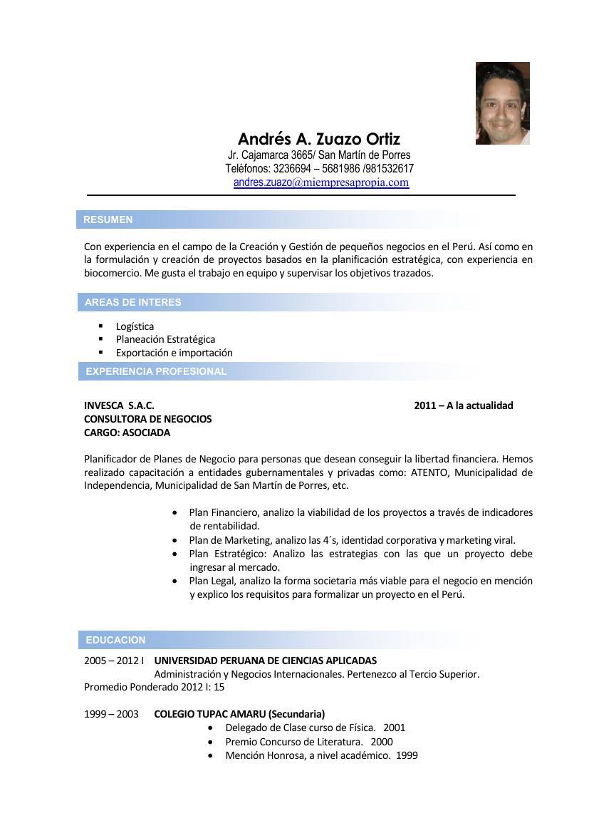 Andrés Zuazo: CV por logros