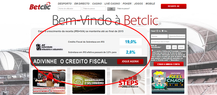 Site da Betclic: Adivinhe o Credito Fiscal