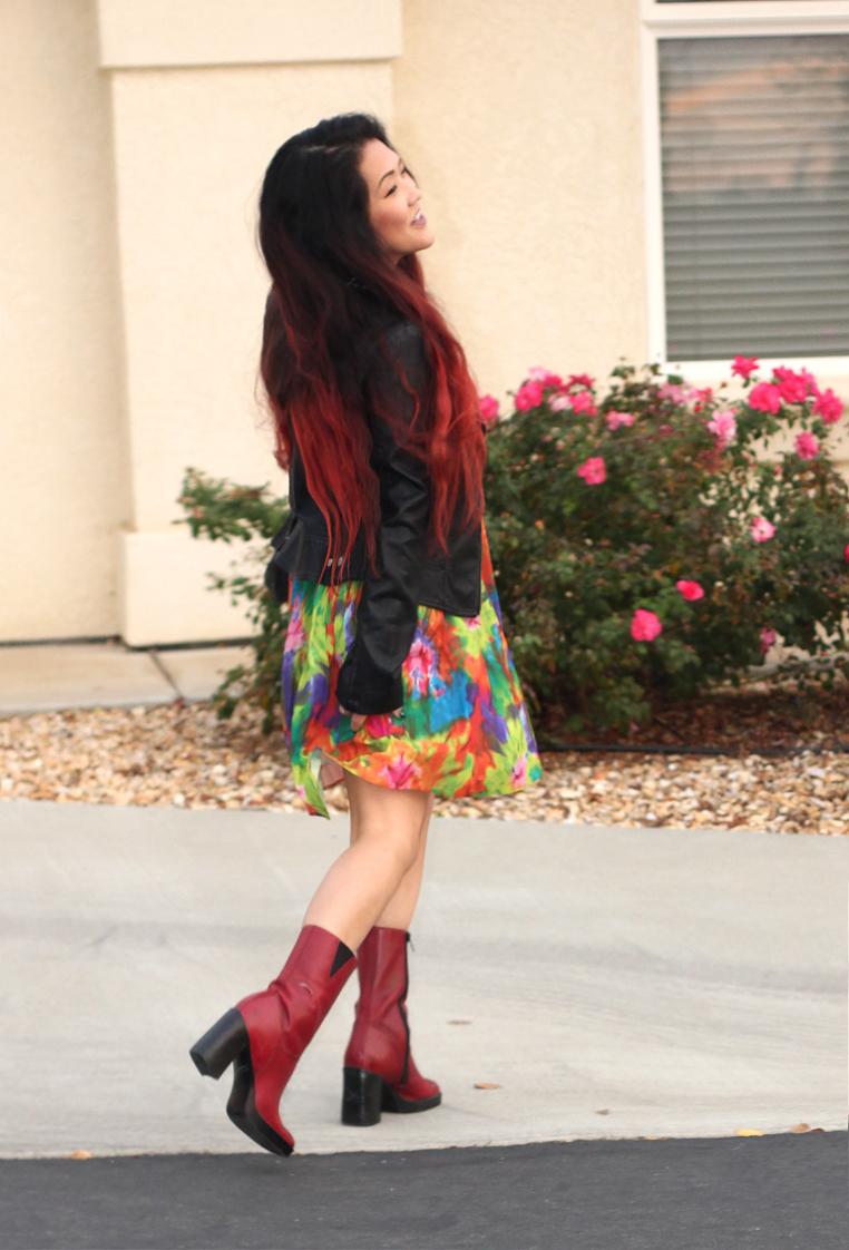 vintage tie dye dress