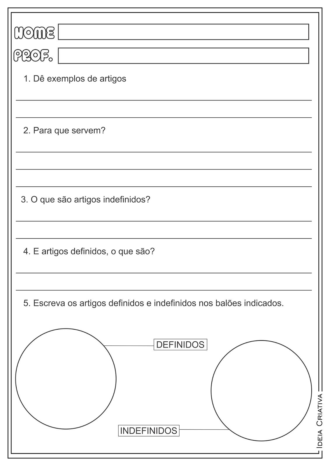 Artigo Classe Gramatical Atividade Educativa