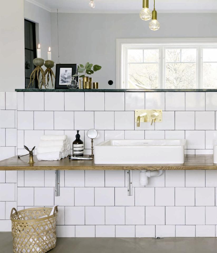 Casa de magnolia: ett personligt badrum med karaktär
