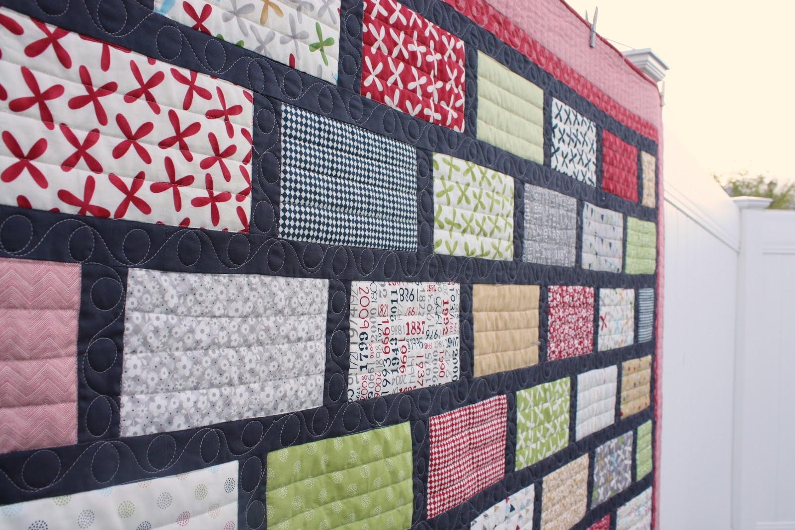 Finished Reunion Bricks Quilt - Diary of a Quilter - a quilt blog : brick quilt - Adamdwight.com