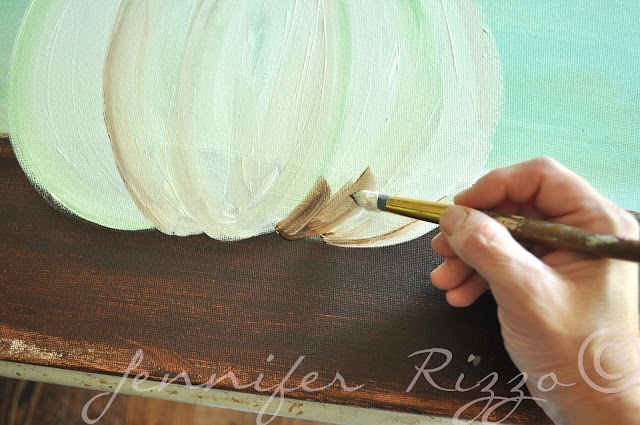 How to paint a pumpkin canvas, art skills not required!!!shade underneath
