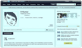 V Kumar on Linked In