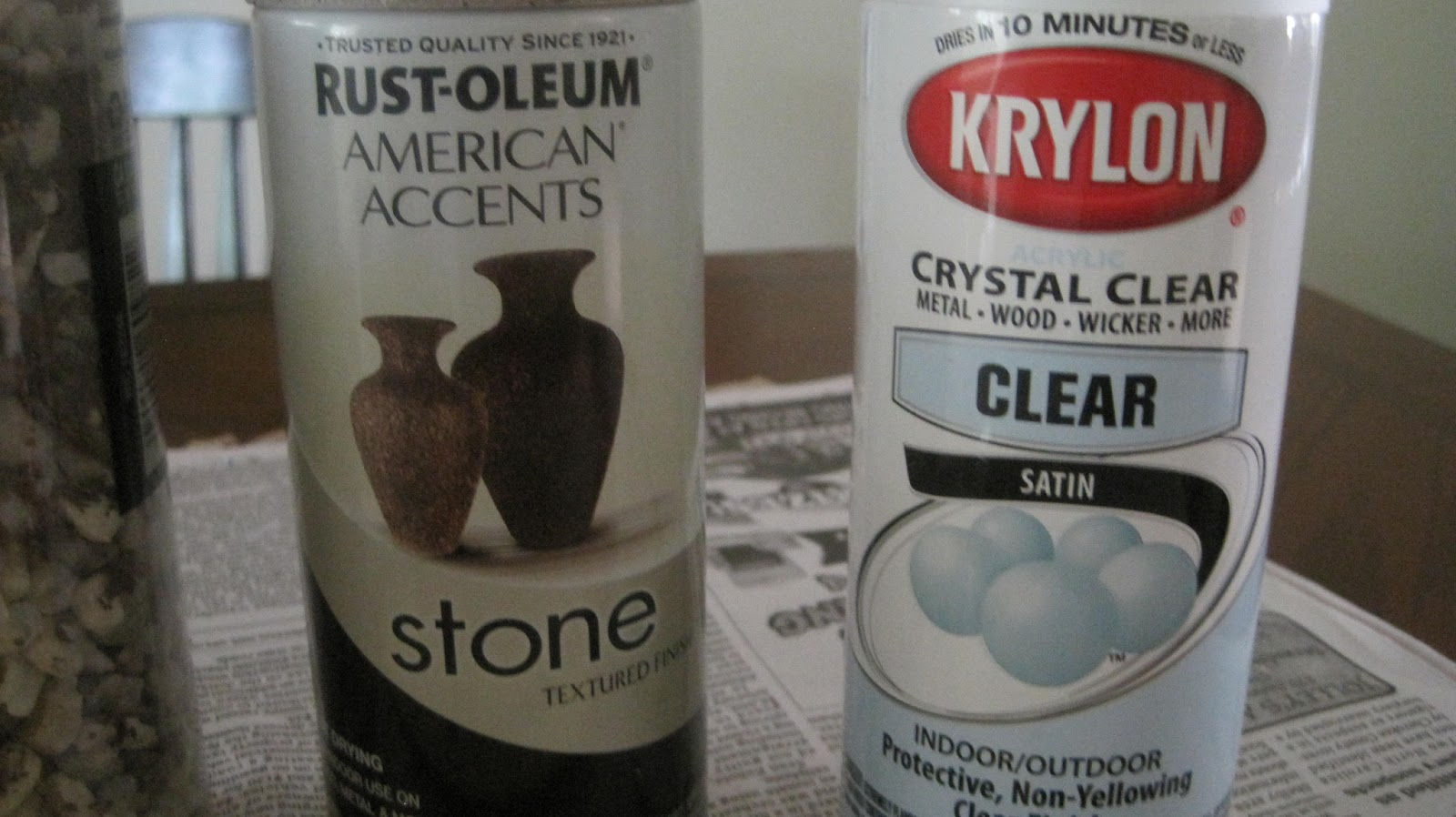 spray that jessica used for the rustoleum american accent stone spray. Black Bedroom Furniture Sets. Home Design Ideas