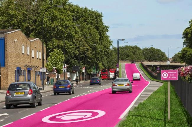 Jalur Warna PINK Khusus Wanita Di Inggris