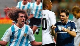 Messi, Batistuta