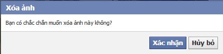 Xóa ảnh Facebook, bạn có chắc muốn xóa ảnh này