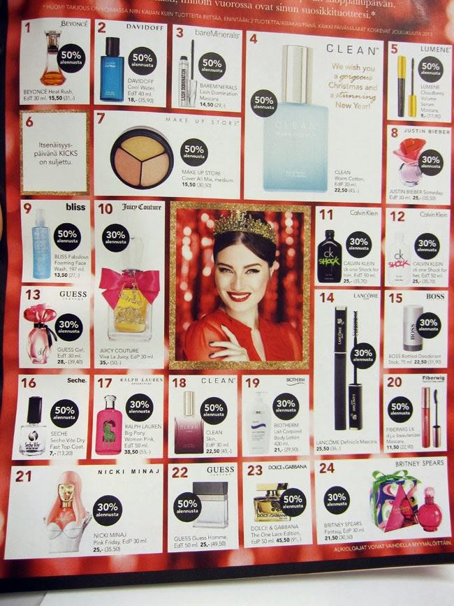kicks joulukalenteri 2018 FUNKY AND FIFTY: KICKS  beauty magazine ja kiva tajouksia  kicks joulukalenteri 2018