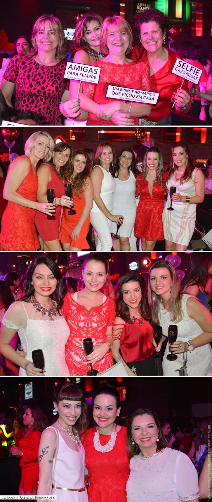 blogueira, blogger, joinville, divas, damas de vermelho, look, vermelho, renda, dourado, festa, navi, Festa estrelas com champanhe