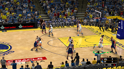 NBA 2K13 Golden State Warriors HD Court Patch