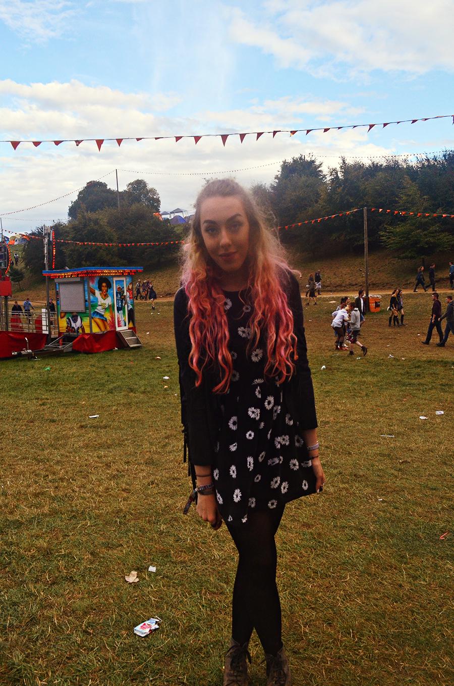 Stephi LaReine // Leeds Festival 2014 - Tassel Jacket, Motel Floral Dress, Doc Martens,