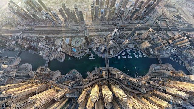 IMAGENES: visiones de la Tierra capturadas por el ojo humano Dubai+Marina+from+above