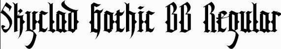 SKYCLAD GOTHIC FONT FREE