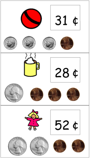 This product consists of 2 different money flash card activities each