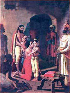 Krishna in Jail to Meet his Mother and Father