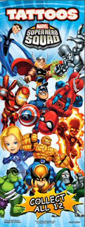 Insert for Marvel Super Hero Squad tattoos