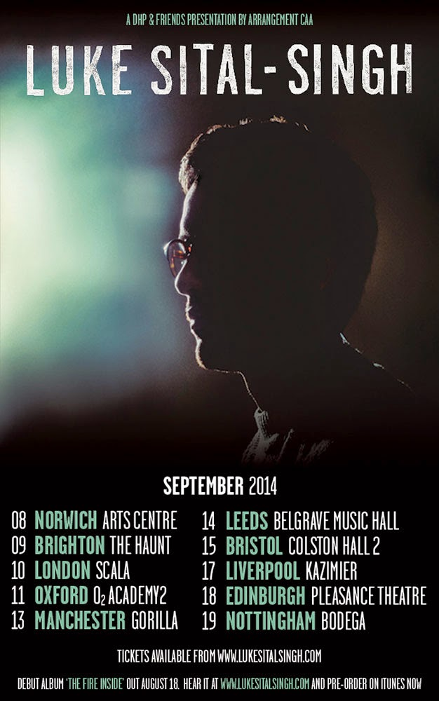 Luke Sital-Singh debut album UK September tour