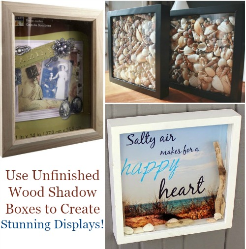 Unfinished Wood Shadow Boxes