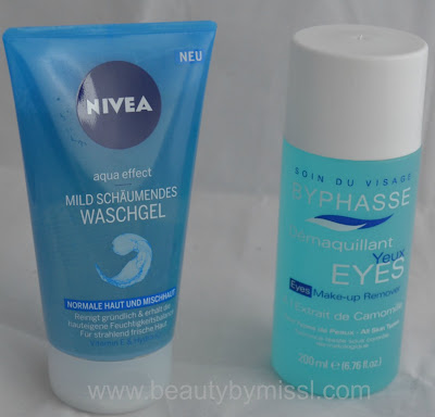 face wash, eye makeup remover
