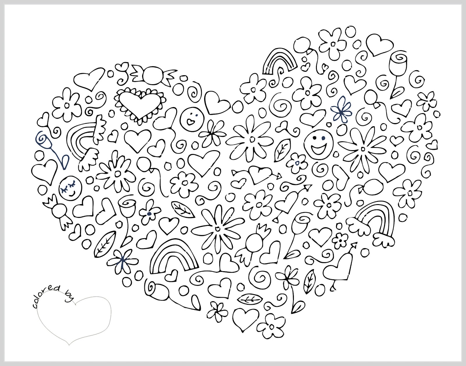 Valentine Heart Coloring Pages Adults Pictures to Pin on Pinterest