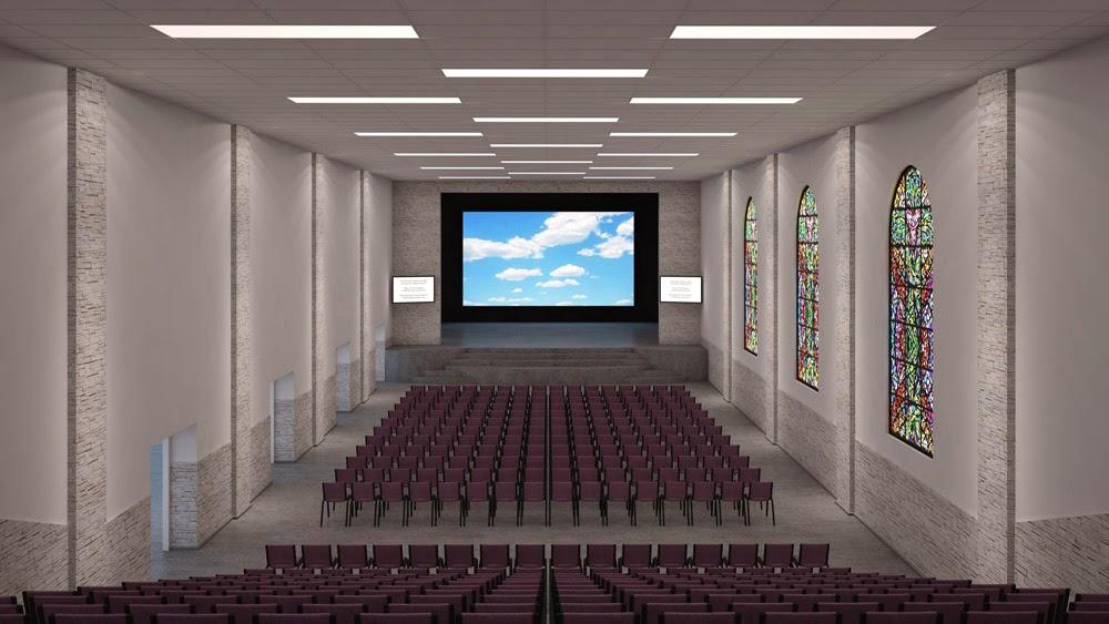 и схемы освещения зала на