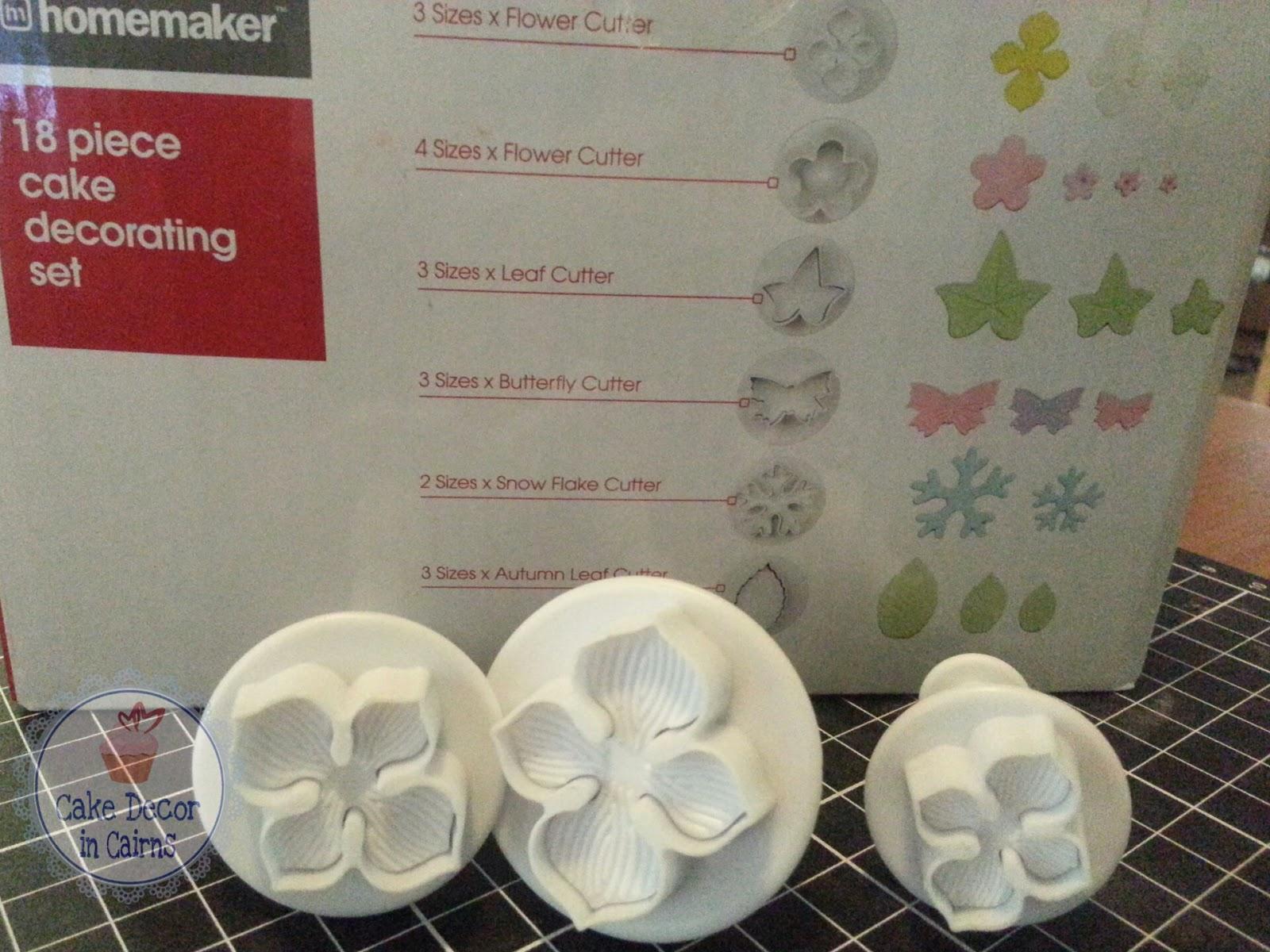Using Hydrangea Cutters Pink Hydrangea Fondant Flowers Cupcake Topper tutorial