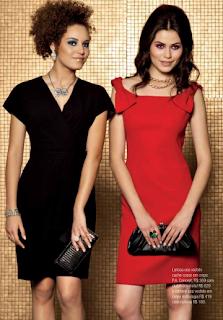 Vestidos de NocheVieja 2012 rojo y negro