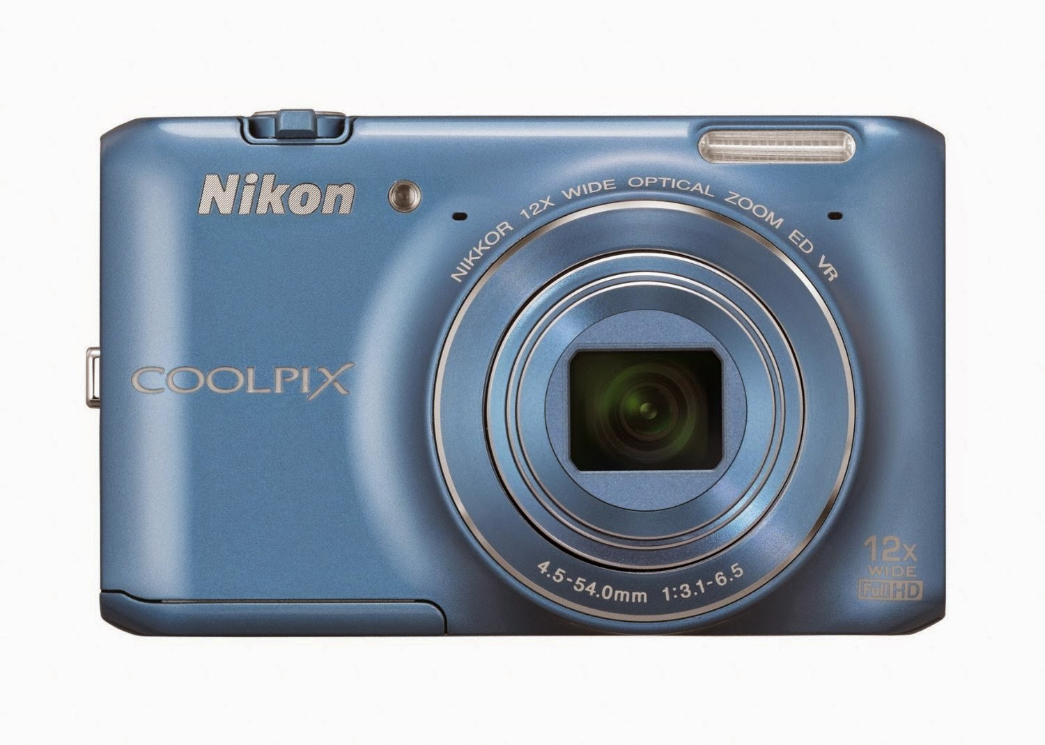 Nikon Coolpix S6400 16.0MP Point-and-Shoot Digital Camera (Blue) with 4GB Card, Camera Pouch, HDMI Cable for Rs 8499