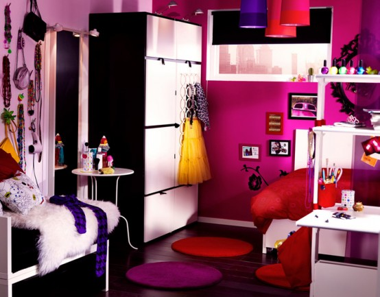 Western home decorating ikea 2011 teen and kids room design ideas - Ikea room one room ...