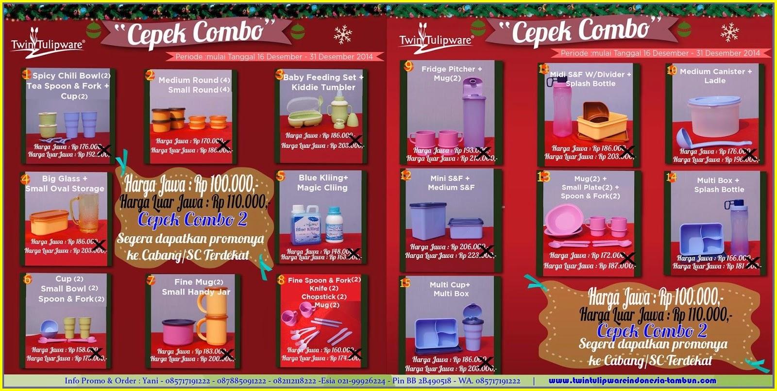 Promo CEPEK COMBO-2 Tulipware Desember 2014