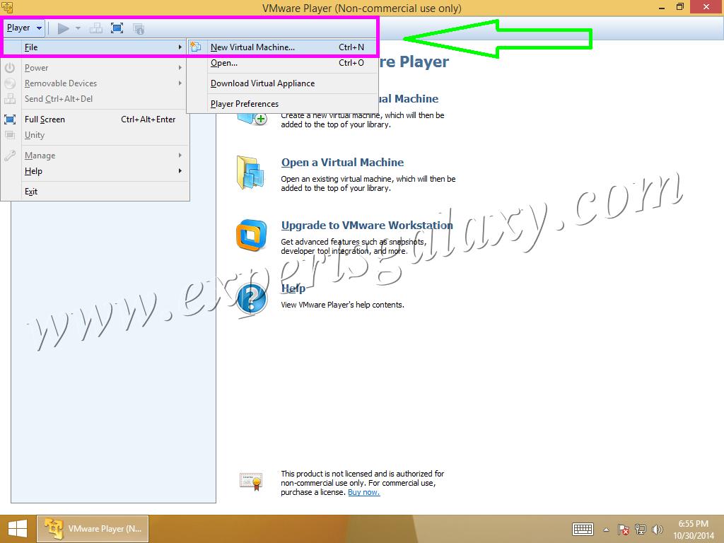 VMware Player New Machine Creation