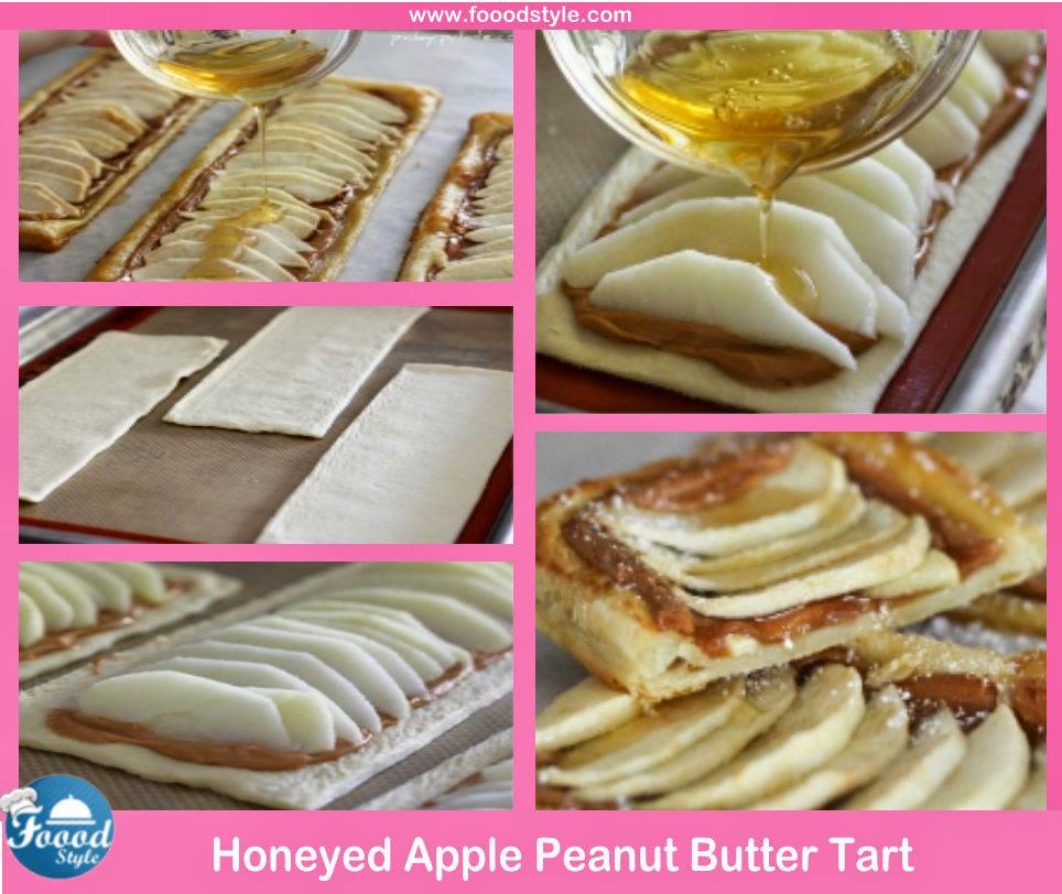 Yummy Honeyed Apple Peanut Butter Tart Idea ! | Foood Style