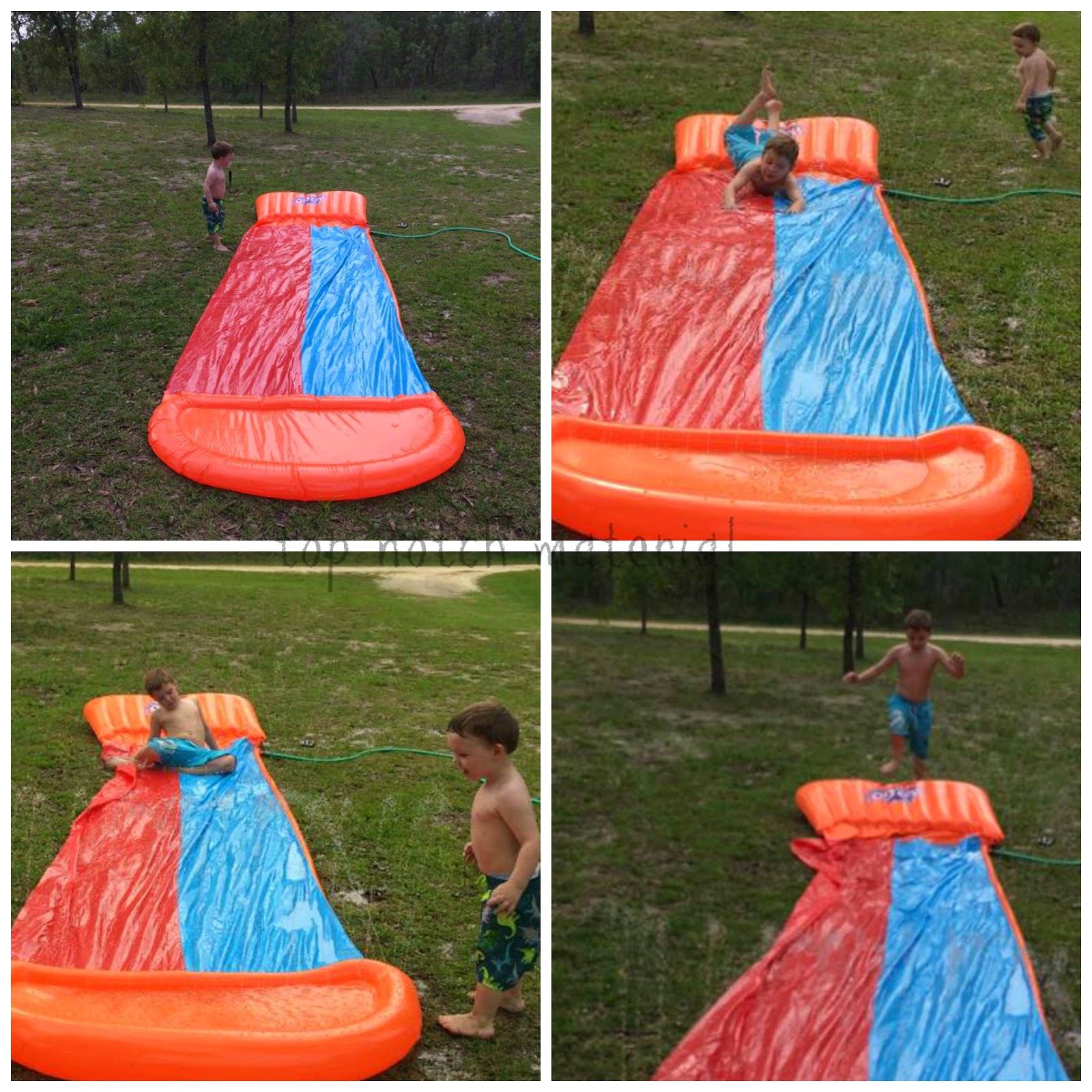 h20go backyard water slide is the world s first line of water slides