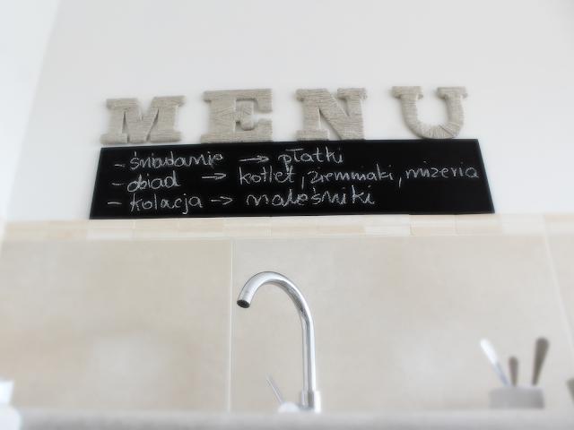 menu,tablica do kuchni,DIy zrób to sam majsterkowanie blog,