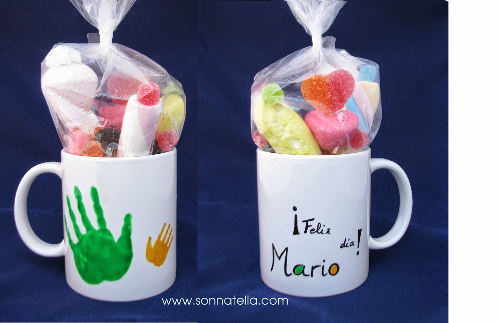 Taza pintada a mano (making of). Sonnatella