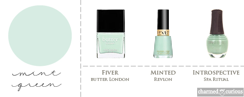 Revlon Minted, butter LONDON Fiver, Spa Ritual Introspective