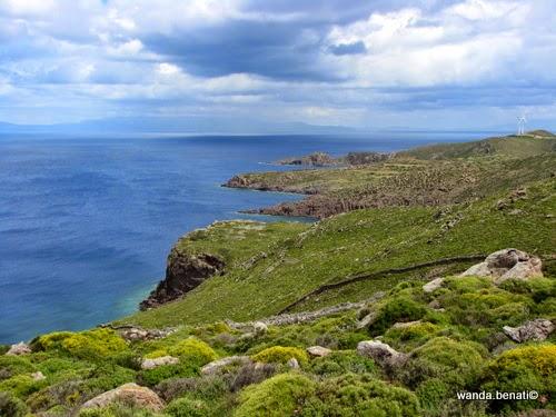 La costa nord di Patmos in primavera