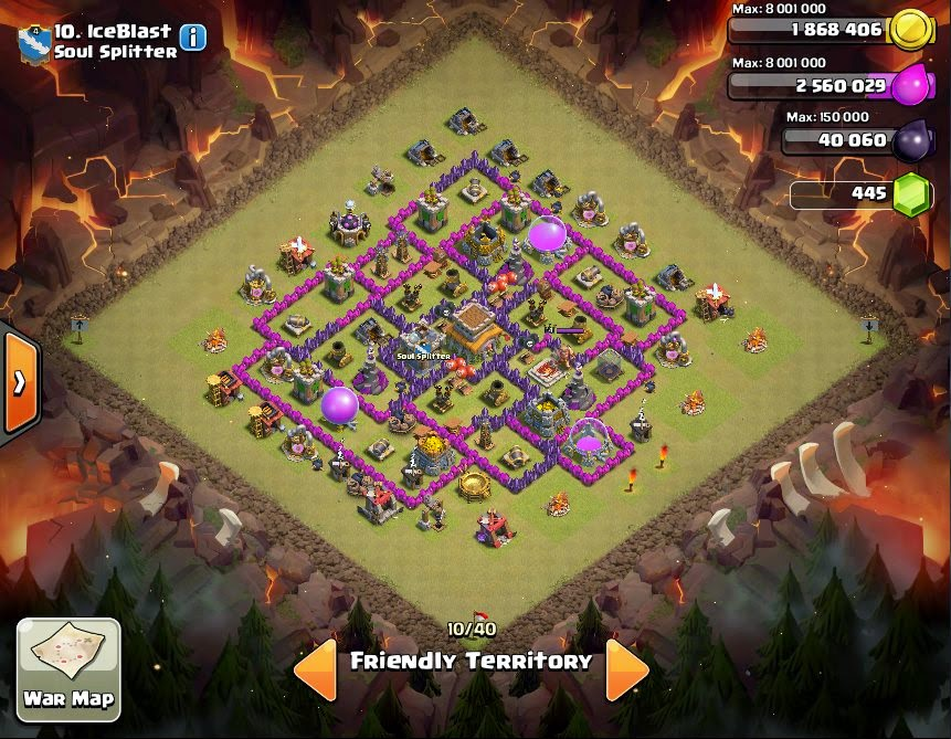 IceBlast - COC Clans War Base