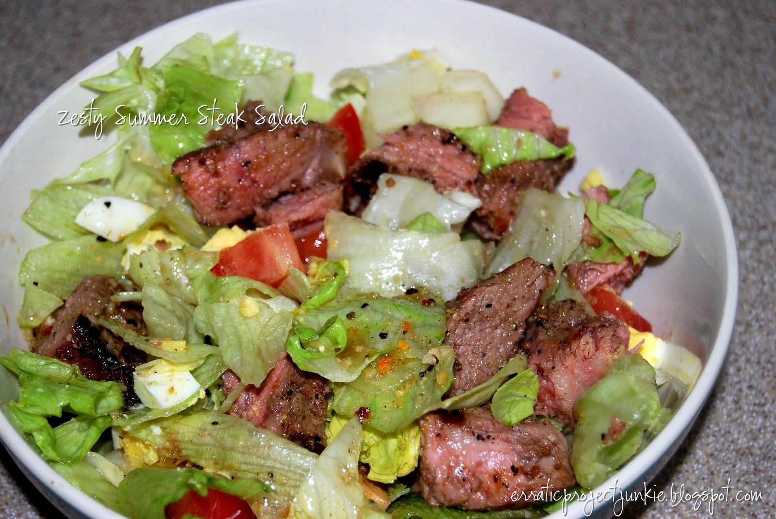 ... Project Junkie: Zesty Summer Steak Salad: A Lazy Blogger's Meal