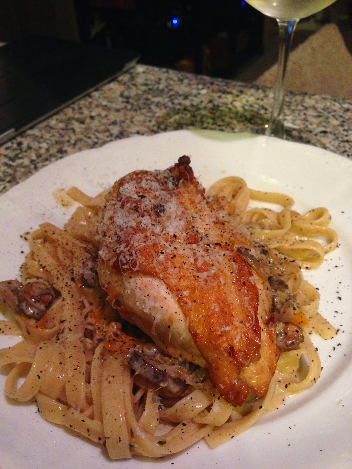 Picture of Chicken Breast over Linguini