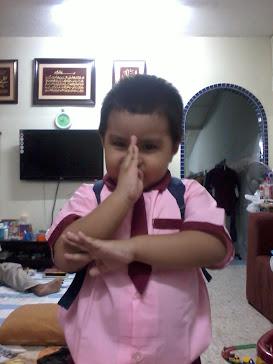 Alif dah sekolah