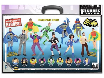 Figures Toy Comany World's Greatest Heroes - Collector's Case - Batman Mego Repro Figures