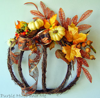 Grapevine Garland Pumpkin Wreath DIY